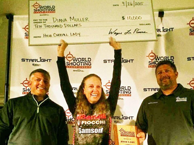 Dianna Muller, NRA, Dianna Muller benelli, NRA world shooting championship