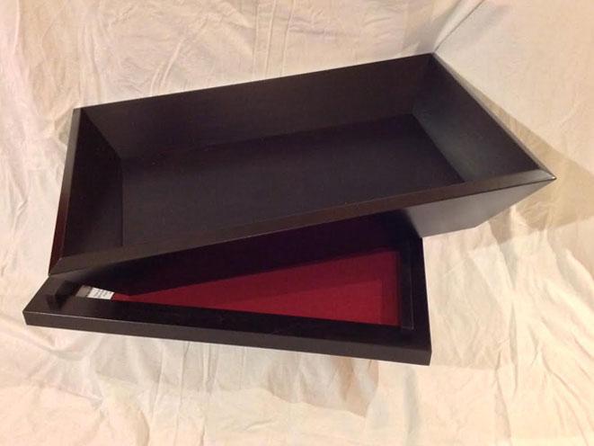 secret compartment furniture, large flower box, secret compartment furniture box