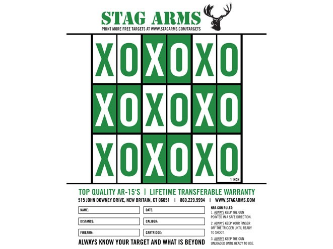 Stag Arms, Stag Arms target, Stag Arms printable target, stag arms tic-tac-toe