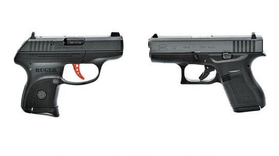 ruger lcp custom, glock 42, glock 42 pistol, ruger lcp pistol