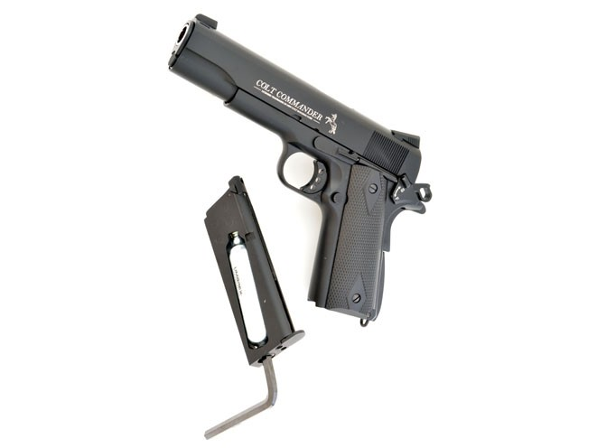 air gun, air guns, air pistol, air pistols, remington 1911 RAC, Crosman 1911 GI, umarex colt commander air pistol