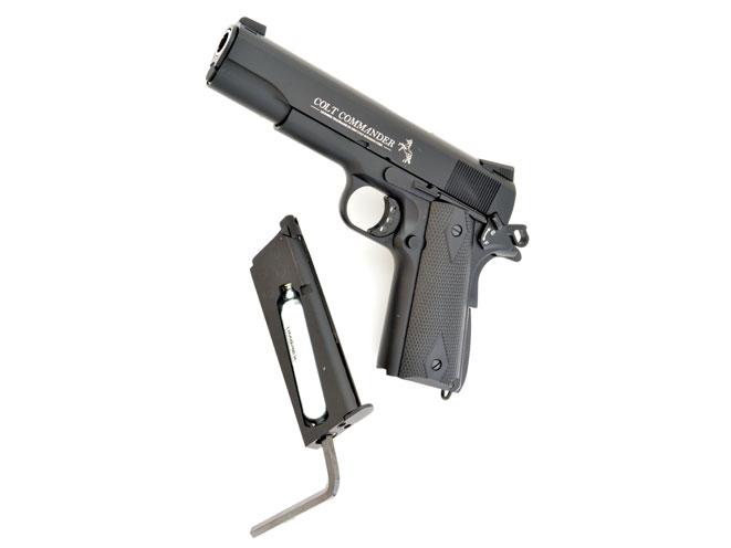 air gun, air guns, air pistol, air pistols, remington 1911 RAC, Crosman 1911 GI, umarex colt commander air pistol