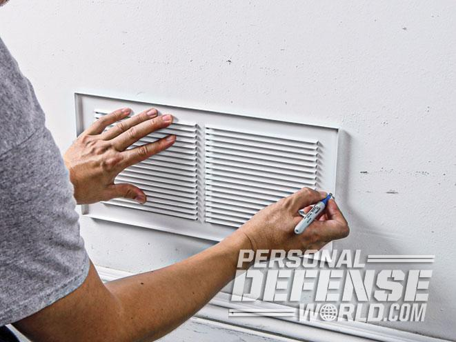 air vent, air vent wall safe, wall safe, wall safe fitment
