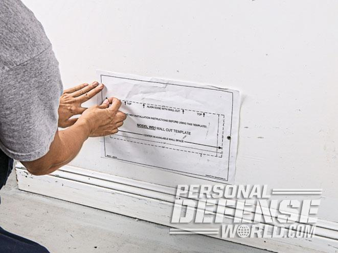 air vent, air vent wall safe, wall safe, wall safe template