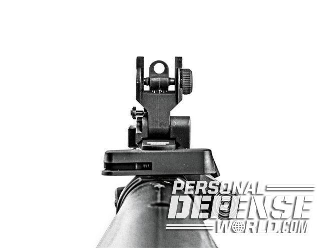 sight, sights, iron sight, iron sights, backup iron sight, backup iron sights, Midwest Industries - SPLP Flip-Up Rear Sight