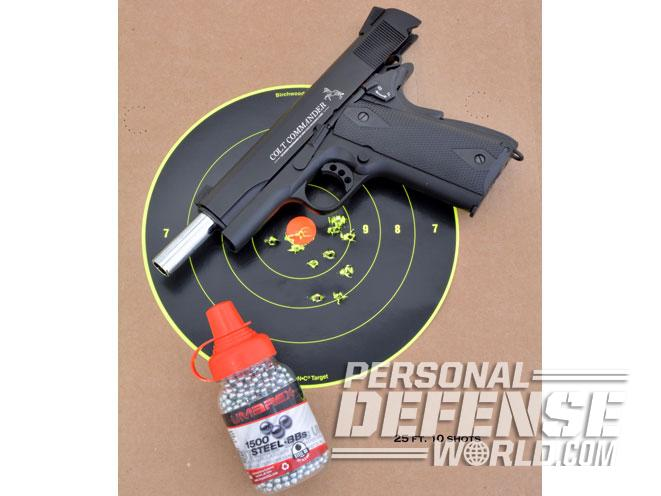 air gun, air guns, air pistol, air pistols, remington 1911 RAC, Crosman 1911 GI, umarex colt commander target