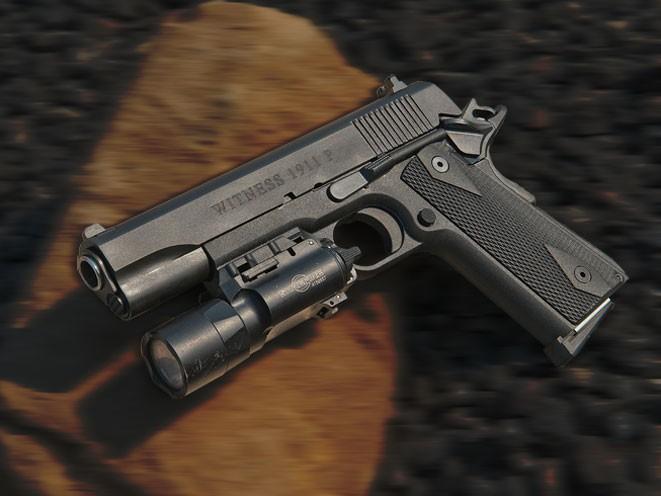 pistols, pistol, full-size pistol, full-size pistols, full-sized pistol, full-sized pistols, EAA Witness 1911 Polymer
