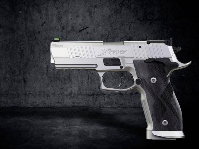 pistols, pistol, full-size pistol, full-size pistols, full-sized pistol, full-sized pistols, Sig Sauer P226 X-Five Short 9mm