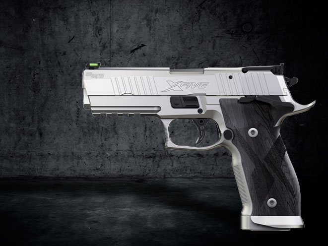 pistols, pistol, full-size pistol, full-size pistols, full-sized pistol, full-sized pistols, Sig Sauer P226 X-Five Short 9mm