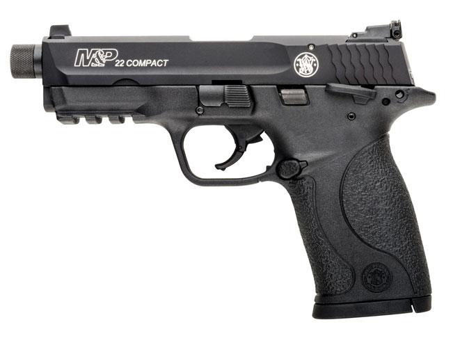 pistol, pistols, compact pistol, compact pistols, pocket pistol, pocket pistols, Smith & Wesson M&P22 Compact Suppressor