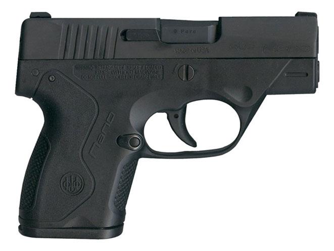 autopistol, autopistols, pistol, pistols, concealed carry pistol, pocket pistol, BERETTA NANO