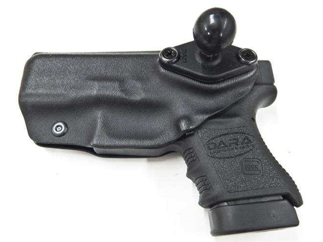 holsters, holster, dara holsters, dara holster, ram tough-claw, ram tough-claw holster, car gun mounts