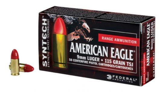 federal premium ammunition, federal american eagle, syntech ammo