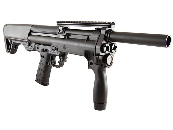 shotgun, shotguns, semi-auto shotguns, semi-auto shotgun, pump-action, pump-action shotgun, Kel-Tec NFA-Ready KSG