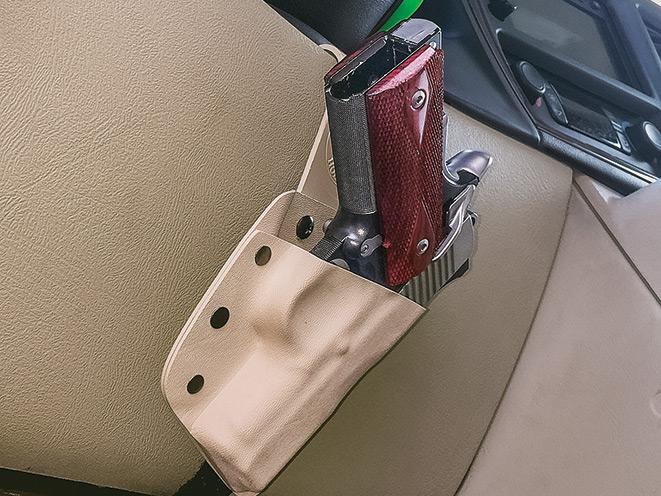 gun, gun safe, gun safes, safe, safes, gun vault, gun holster, Gun Storage, Gold Star Under The Steering Column Holster