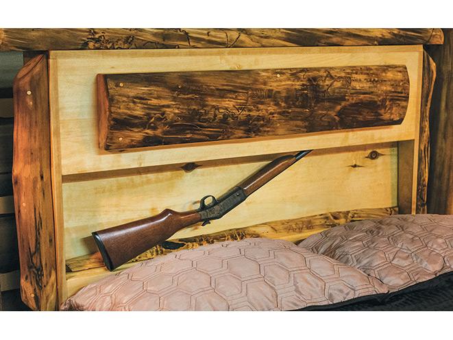 gun, gun safe, gun safes, safe, safes, gun vault, gun holster, Gun Storage, Gun Bed Log Style Gun Bed