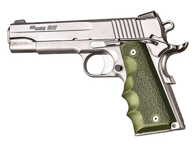 1911, 1911 pistol, grip, grips, gun grip, gun grips, aftermarket grip, aftermarket grip panels, grip panel, grip panels, Hogue OverMolded Rubber Grips