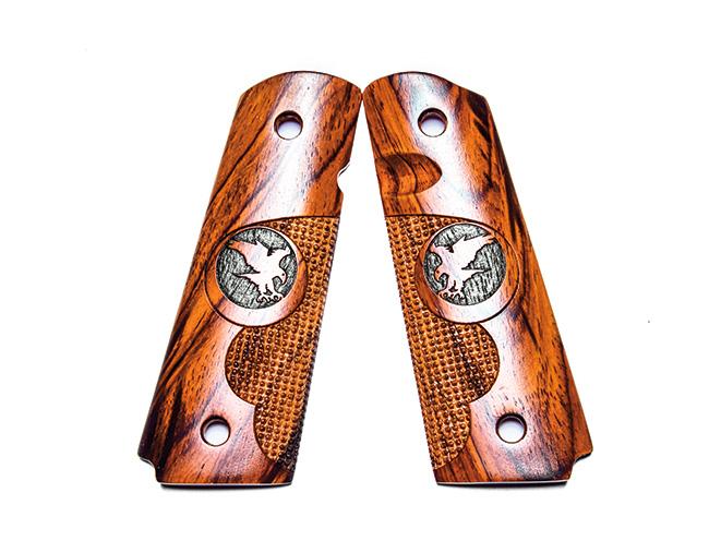 1911, 1911 pistol, grip, grips, gun grip, gun grips, aftermarket grip, aftermarket grip panels, grip panel, grip panels, Nighthawk Cocobolo Finger Groove Pin Point
