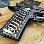 1911, 1911 pistol, grip, grips, gun grip, gun grips, aftermarket grip, aftermarket grip panels, grip panel, grip panels, Valkyrie Dynamics Cobra Skeleton Grips