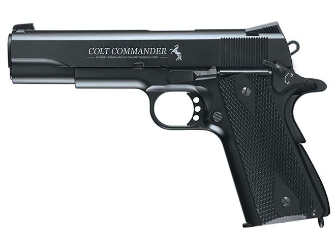 Umarex Colt Commander, Umarex Colt 1911, Umarex Beretta M92A1, Umarex Walther PPS, pistols
