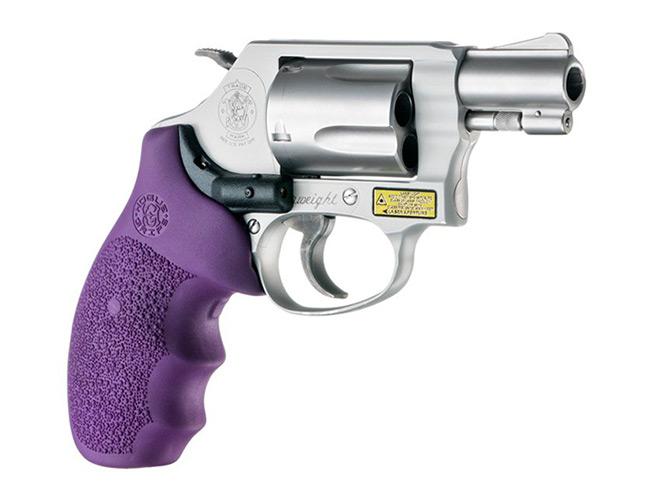 hogue, hogue laser, hogue laser enhanced grip, laser enhanced grip, laser, grip, smith & wesson, purple grip hogue