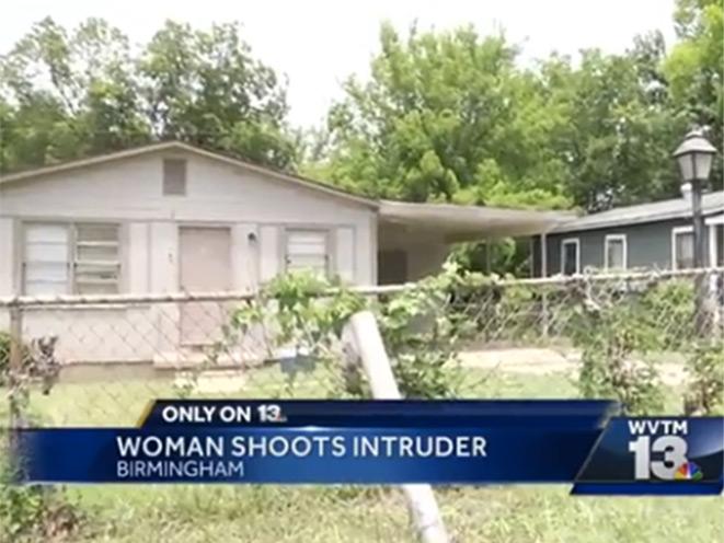 intruder, alabama intruder, pregnant woman shoots intruder