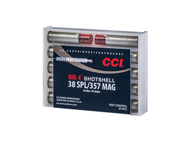 CCI, CCI Ammunition, cci big 4, big 4 handgun shotshell, handgun shotshell