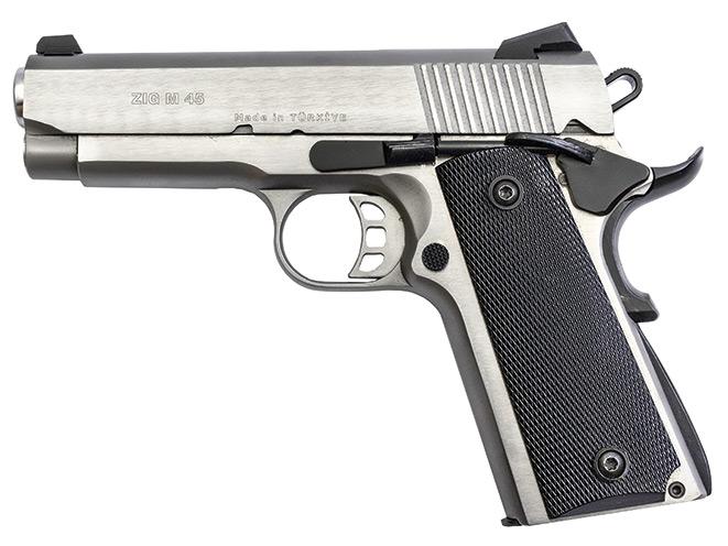 1911, 1911 pistol, 1911 pistols, Zenith Firearms Tisas ZiG M45 Stainless