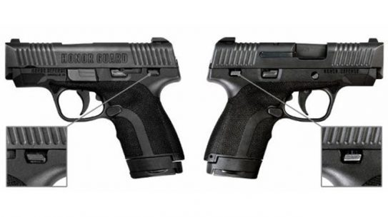 honor defense, honor defense honor guard, honor guard pistol, honor guard pistols
