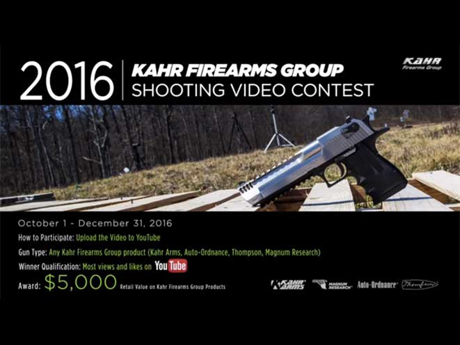 kahr firearms group, kahr youtube shooting contest