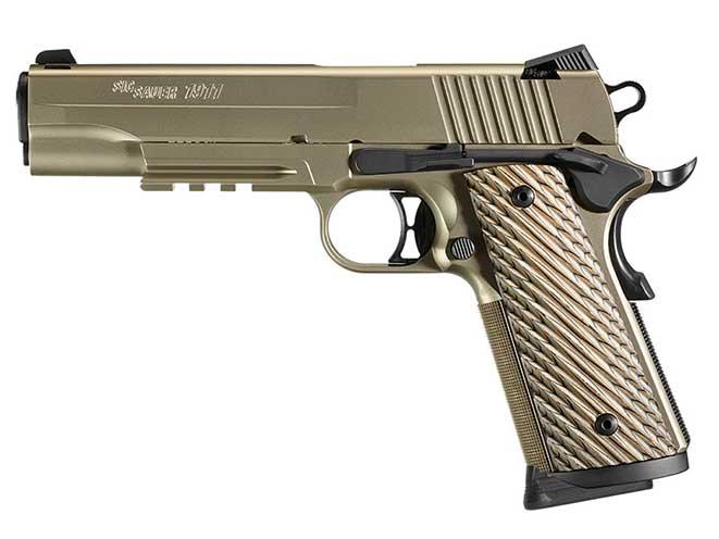 Sig Sauer 1911 NICKEL RAIL pistol