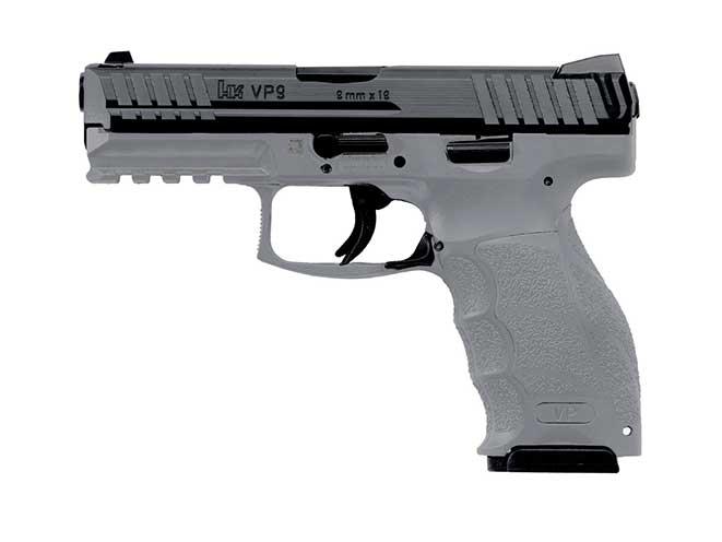 hk vp9 grey pistol