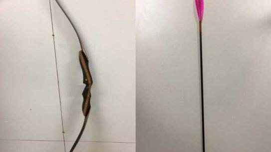 australia shooting bow and arrow