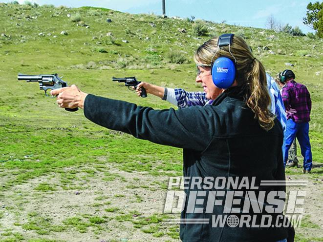 learning to shoot with a full-size handgun