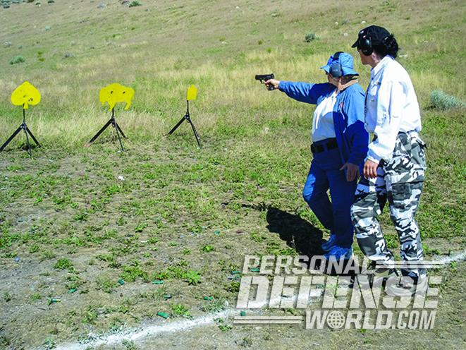 full-size handgun target training