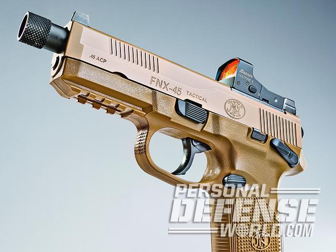 The FNX-45 Tactical serrations