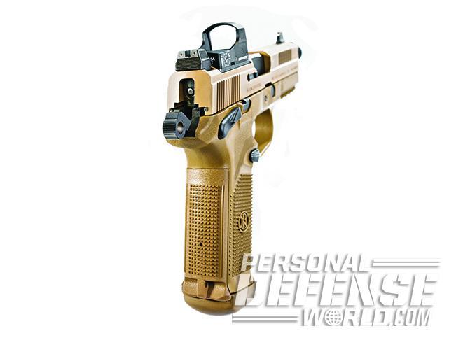 The FNX-45 Tactical grip