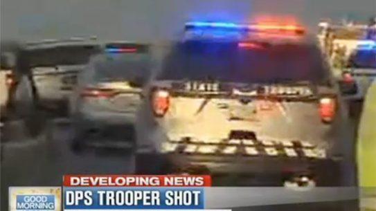 arizona trooper shot by armed suspect