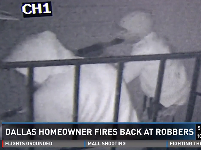 armed dallas homeowner