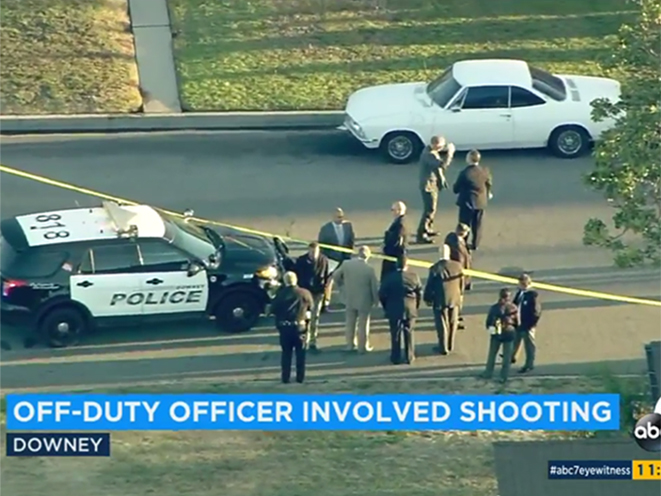 Off-Duty LAPD Officer shooting