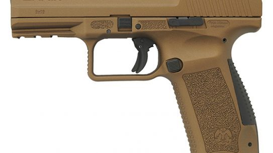 Canik TP9DA pistol burnt bronze