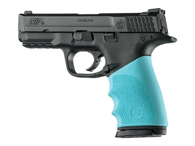 hogue aqua blue grips for smith & wesson m&p 9mm