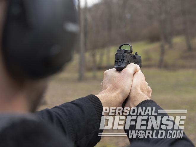 Sig Sauer P320 RX Compact pistol test fire