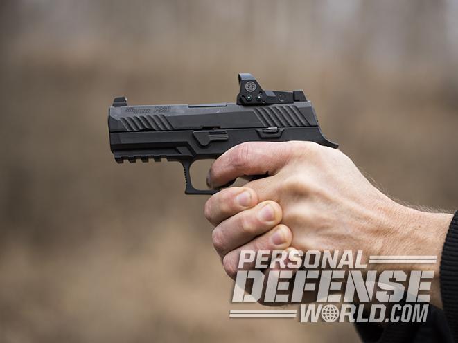 Sig Sauer P320 RX Compact pistol gun fire