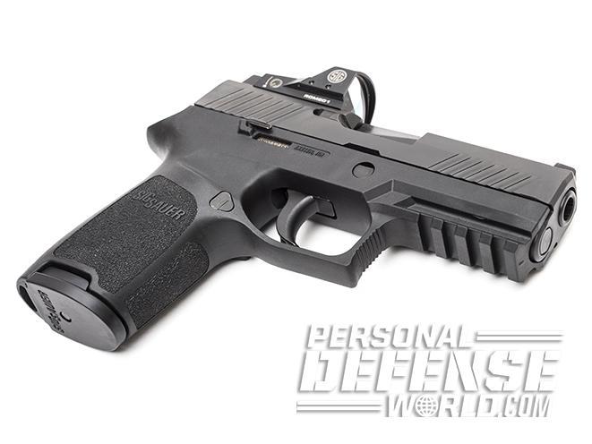 Sig Sauer P320 RX Compact pistol angle