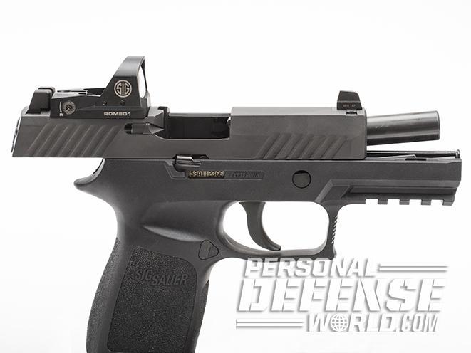 Sig Sauer P320 RX Compact pistol slide