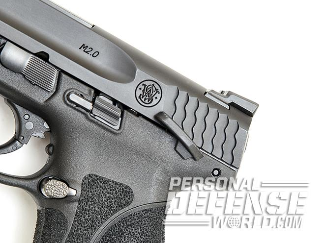 Smith & Wesson M&P9 M2.0 pistol thumb safety