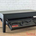 Tactical Walls Concealment Coffee Table gun safes