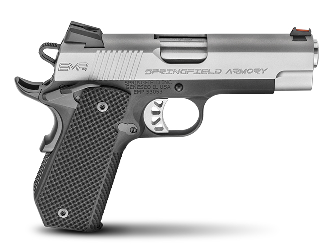"""Springfield Armory 1911 EMP 4"""" Concealed Carry Contour 1911 pistol"""