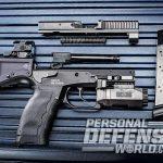 B&T USW pistol carbine disassembled